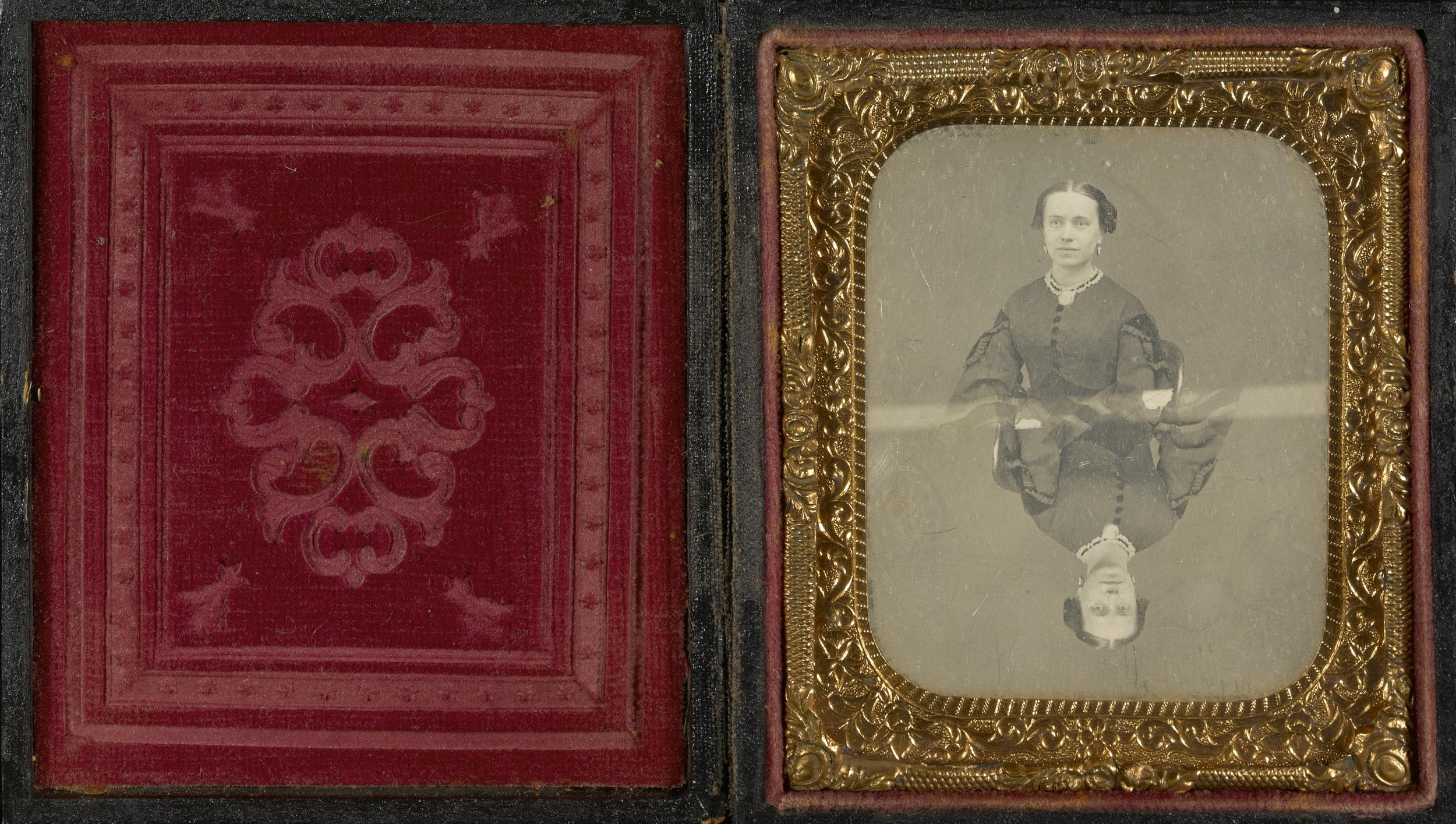 """Рис.24 """"Двойной портрет женщины"""" (автор неизвестен), 1850-е"""