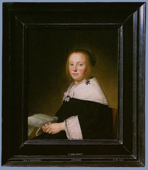 """Рис.6 Иоганнес Верспронк """"Портрет Марии Хамиус"""", 1641"""