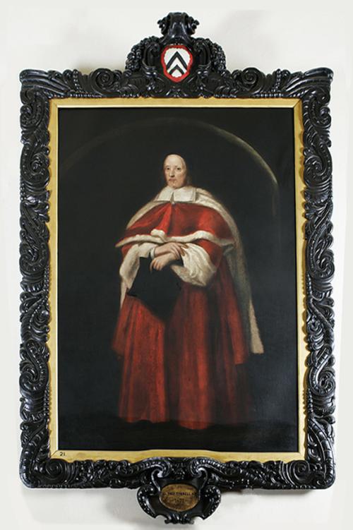 """Рис.1 Джон Майкл Райт """" Сэр Томас Тиррелл """" (1671). Рама Сандерлэнд возможно сделана Мэри Эшфилд, Мэри Флейшер или Мэри Доррелл, вероятно изначально рама была позолочена."""