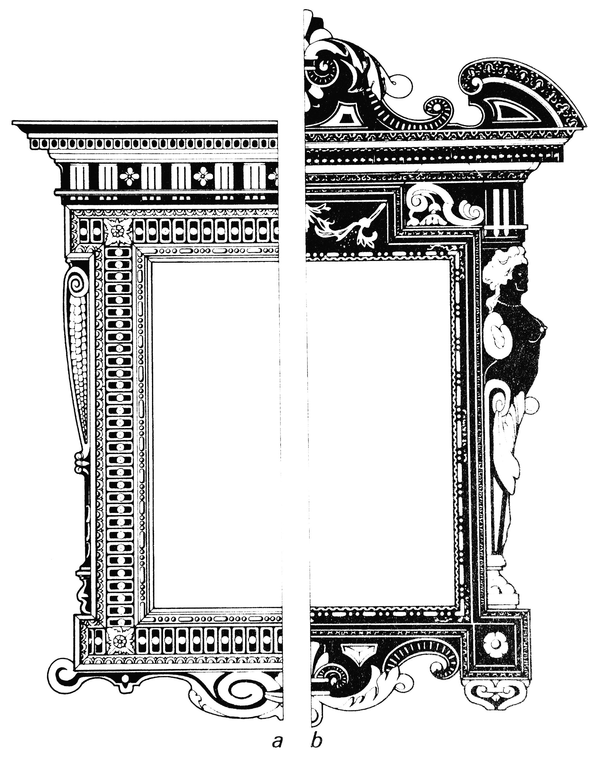 Рис.22 Итальянские маньеристские адикулярные рамы