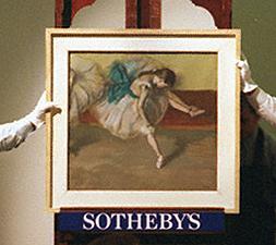 """Рис.4 Эдгар Дега """"Отдыхающая танцовщица"""", продано на Сотби в 1999 г."""