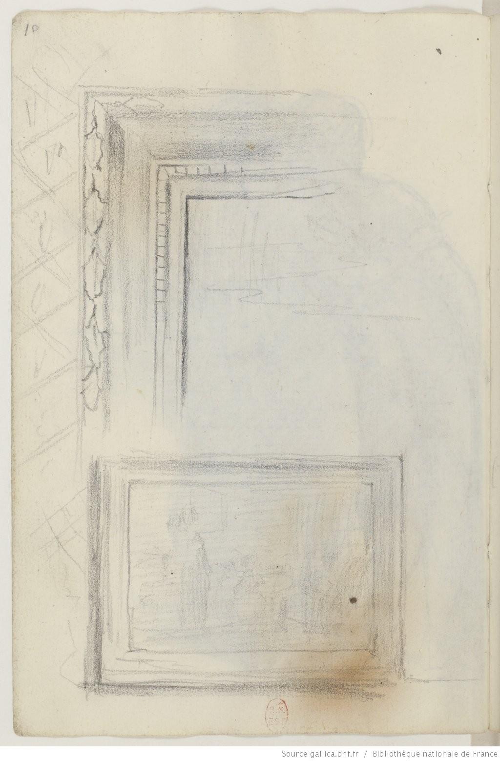 Рис.1 Эдгар Дега,Записная книжка 16, стр.10, 1858-60.