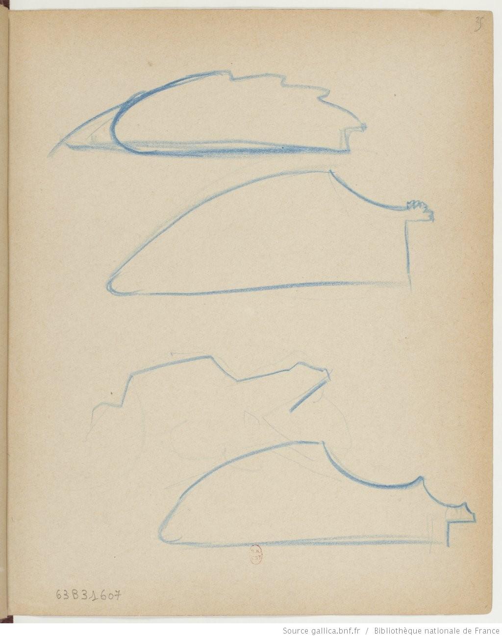 Рис.3 Эдгар Дега,Записная книжка 9, стр.25, 1877-83.