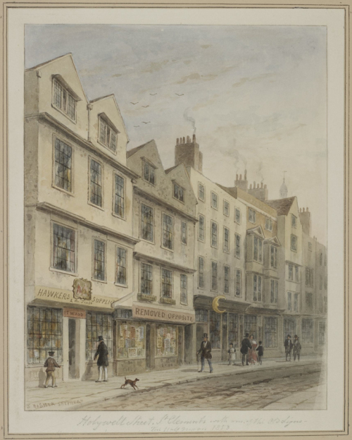"Рис.11 Томас Хосмер Шепард ""Магазины на Холивелл стрит"", 1853"
