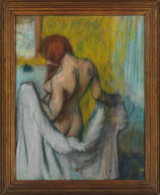 "Рис.8 ЭдгарДега ""Женщина с полотенцем"", 1894 или 1898 год."