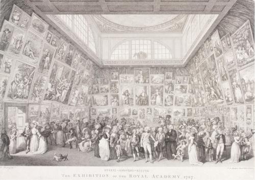 """Рис.2 Пьетро Мартини(1738-97),автор оригинала Г.И. Рамберг, """"Выставка в королевской академии художеств, 1787 год"""", гравюра, 1787 год"""