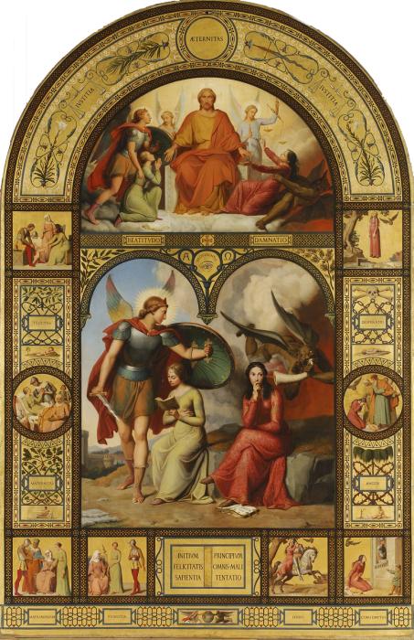 Рис.3 Виктор Орсель (1795-1850), Добро и Зло, 1829-32