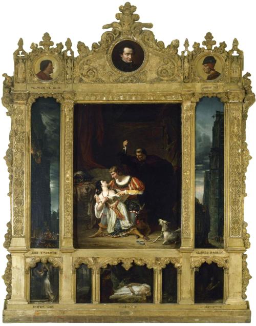 """Рис.4 Огуст Кудер (1789-1873), Сцены из """"Собора Парижской Богоматери"""" Гюго"""