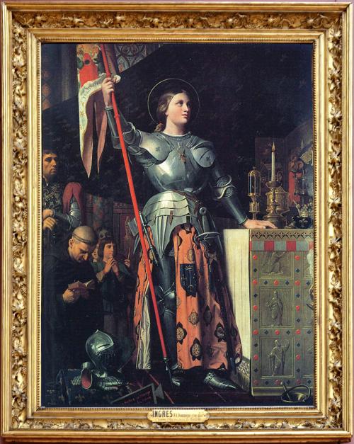 Рис.5 Жан-Огюст-Доминик Энгр (1780-1867), «Жанна д'Арк на коронации Карла VII», 1851-55