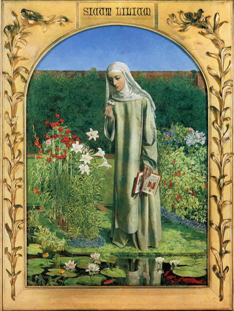 Рис.9 Чарльз Олстон Коллинз (1828-73)«Мысли монахини» 1850-51