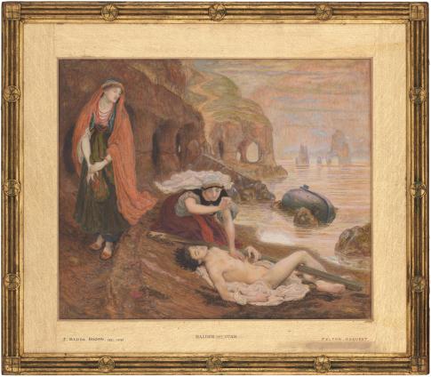 """Рис.14 Форд Мэдокс Браун (1821-93)""""Гайде находит Дон Жуана""""1869-70"""