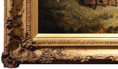 "Рис.17 Джон Фредерик Херринг ""Лошади на природе"", фрагмент рамы"