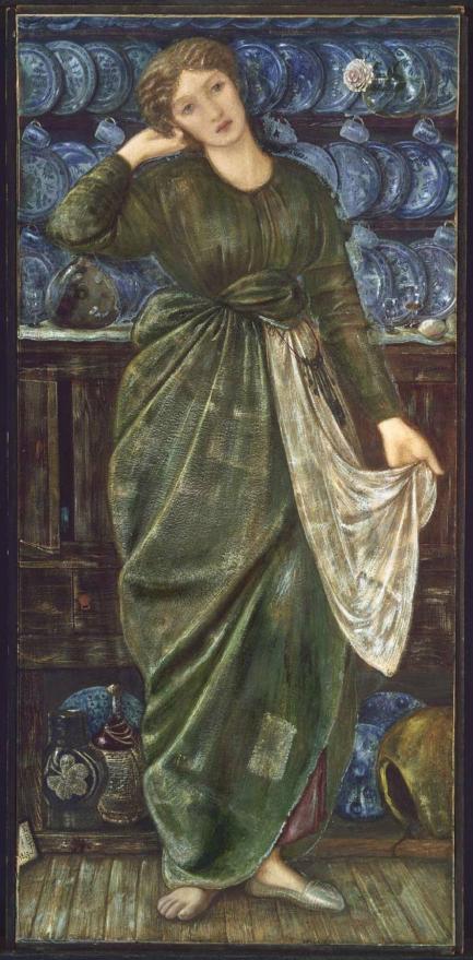 "Рис.20 Эдвард Бёрн-Джонс ""Золушка"", 1863"