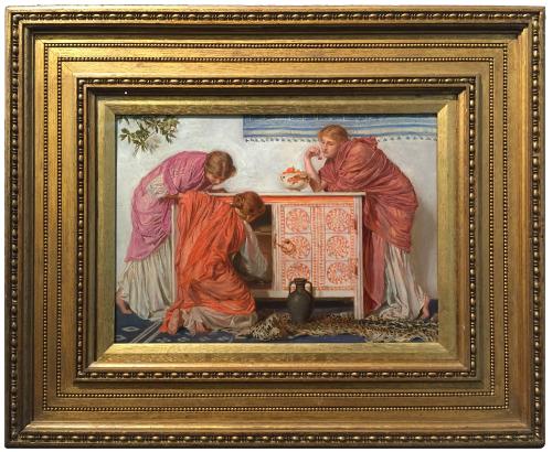 """Рис.22 Альберт Мур (1841-93), """"Гранаты"""", 1865-66"""
