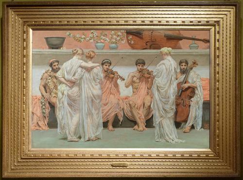 Рис. 25 Альберт Мур (1841-93), Квартет: Посвещение художника искусству и музыке, 1868