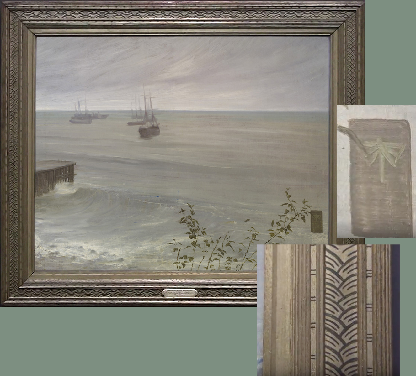 """Рис.26 Д.Э.М. Уистлер (1834-1903), """"Симфония в сером-зеленом: океан"""", 1866"""