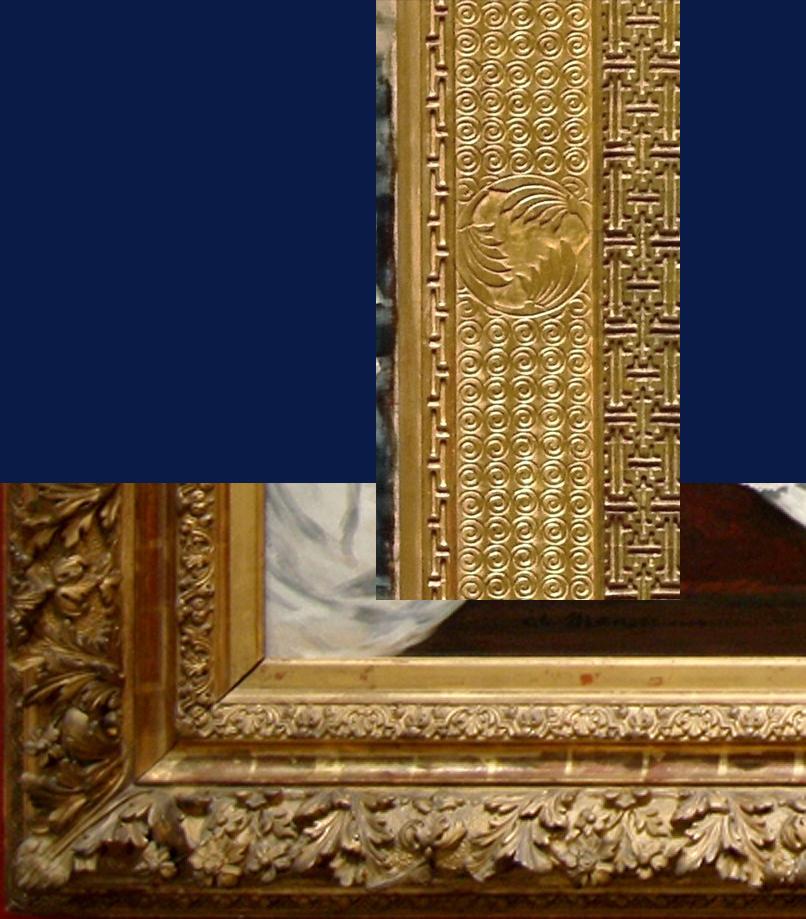 "Рис.27 Фрагмент рамы Уистлера "" La princesse du pays de la porcelaine"" , и Мане ""Олимпия"""