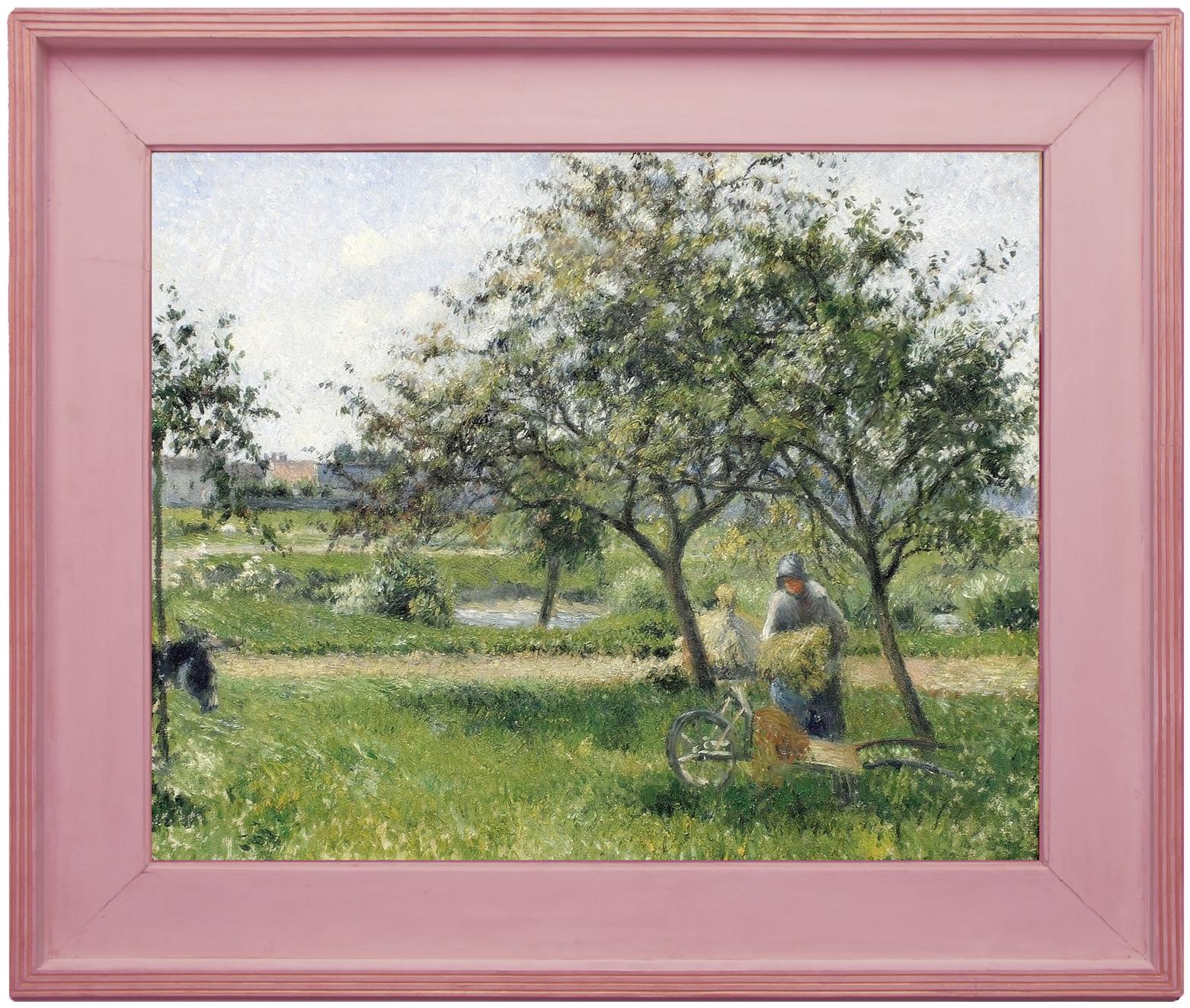 Рис.31 Камиль Писсарро (1830-1903), La brouette dans un verger , 1879, в раме Дега