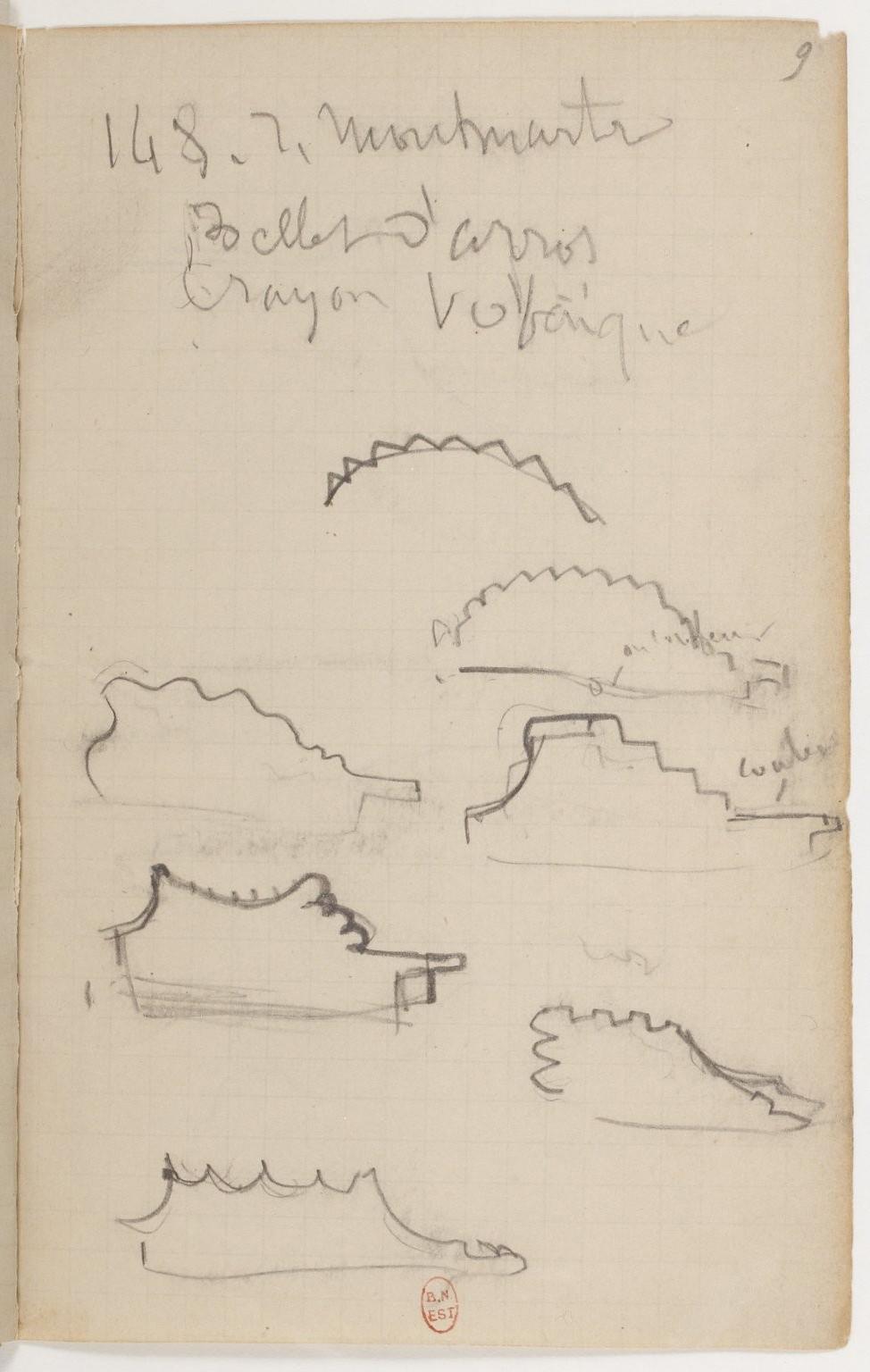 Рис.32 Эдгар Дега, набросок из записной книжки №23,1878-79