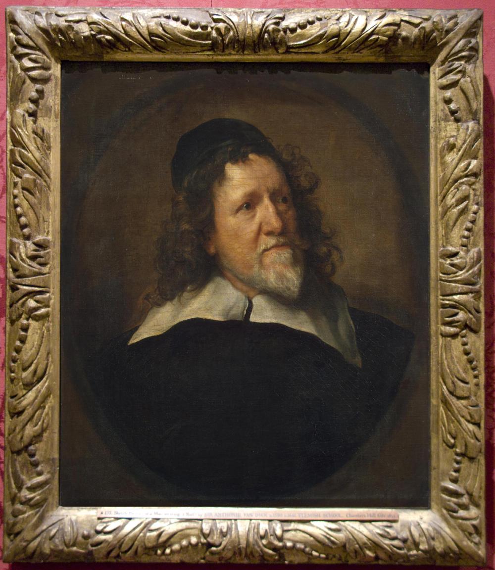 """Рис.2 Антонис ван Дейк (1599-1641), """"Портрет Иниго Джонса"""", 1630-35 в раме картины ван Дейка """"Портрет бородатого мужчины в рафе"""", 1634"""