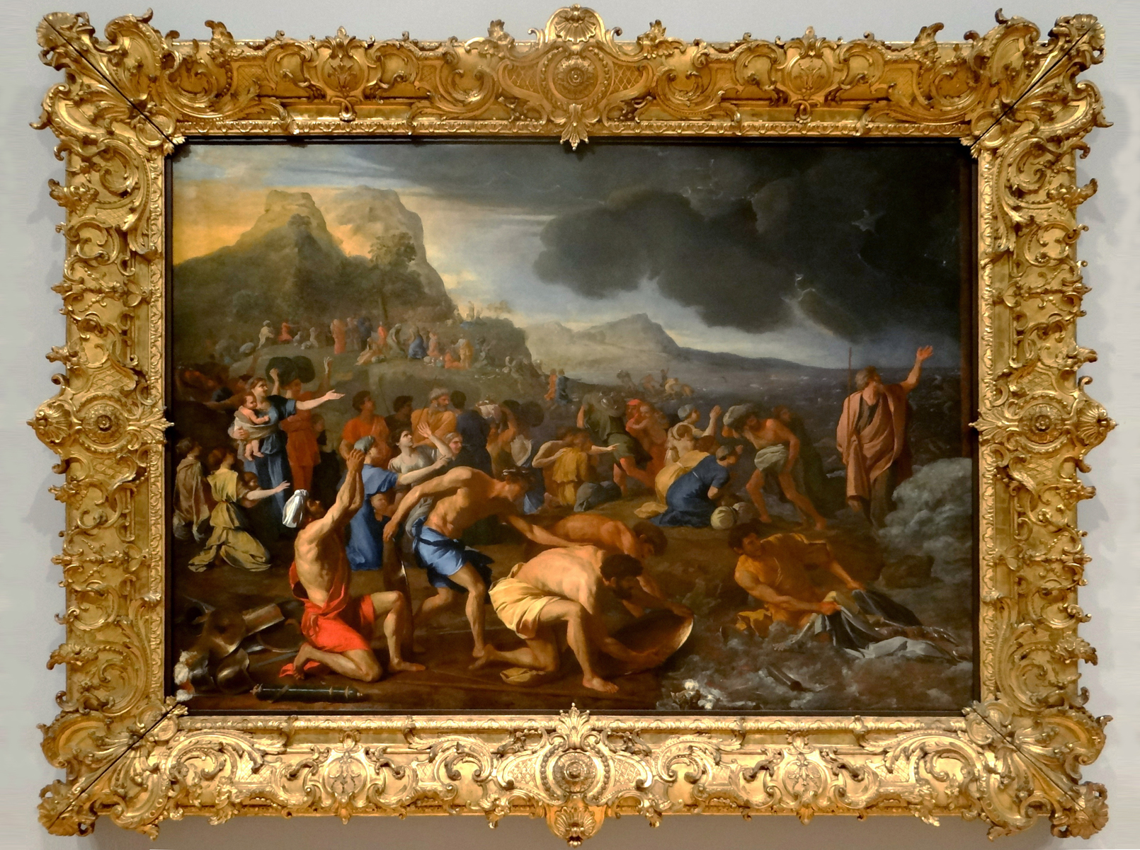 "Рис.3 Никола Пуссен, ""Переход через Красное море"", 1632-34"