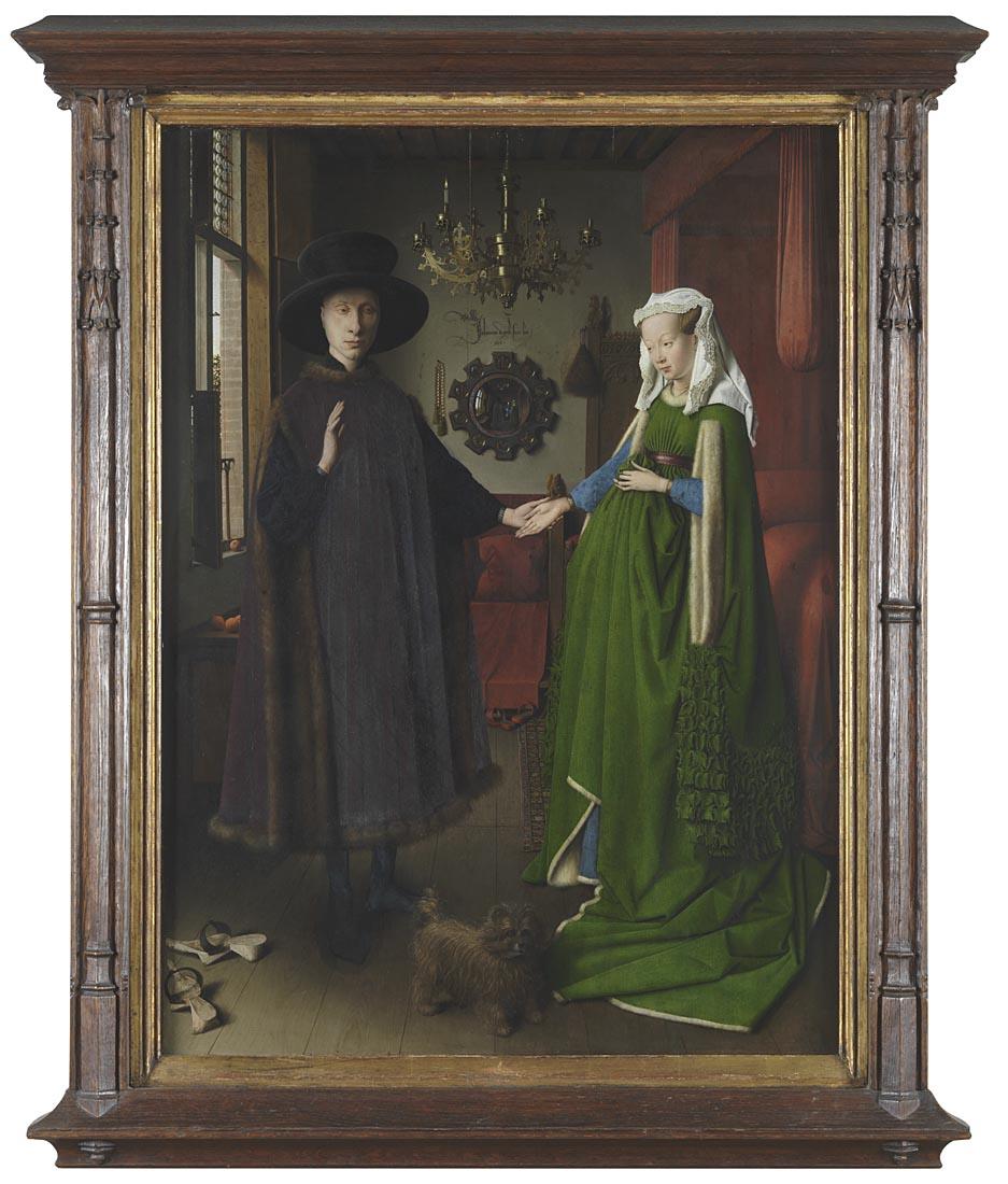 """Рис.4 Ян ван Эйк, """"Портрет четы Арнольфини"""", 1434"""