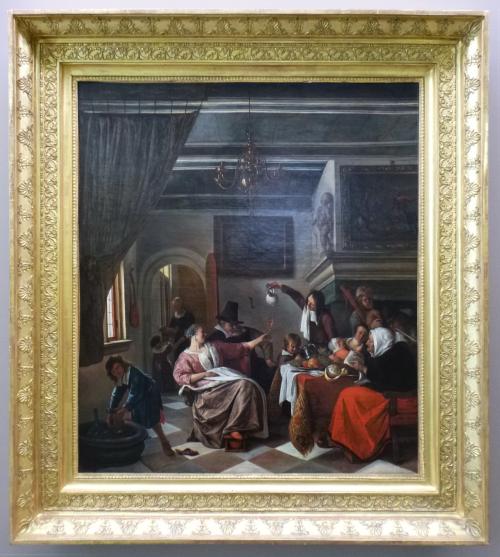 "Рис.5 Ян Стен ""Яблоко от яблони недалеко падает"", 1662"