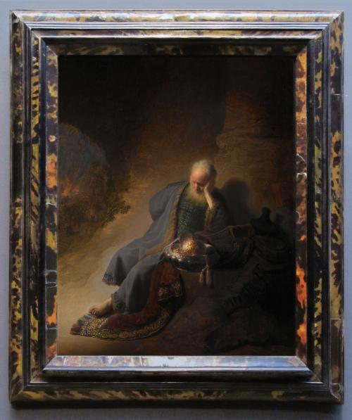 """Рис.7 Рембрант (1606-69), """"Иеремия оплакивает разрушение Иерусалима"""", 1630"""