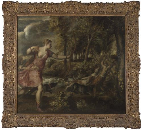 """Рис.11 Тициан ( приблизительно 1490-1576), """"Смерть Актеона"""", приблизительно 1559-75"""