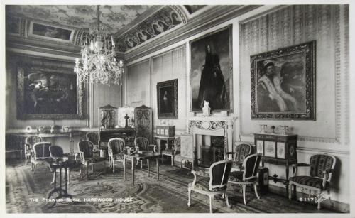 """Рис.12 Вальтер Скотт, """"Гостиная, Harewood House"""", приблизительно 1950-е"""