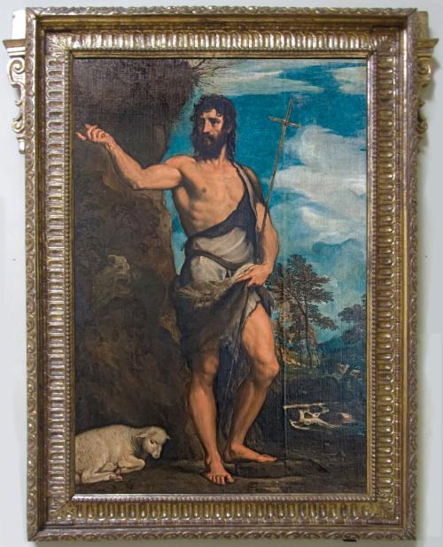 """Рис.18 Тициан ( приблизительно 1490-1576), """" Иоанн Креститель"""" , начало 1540-х"""