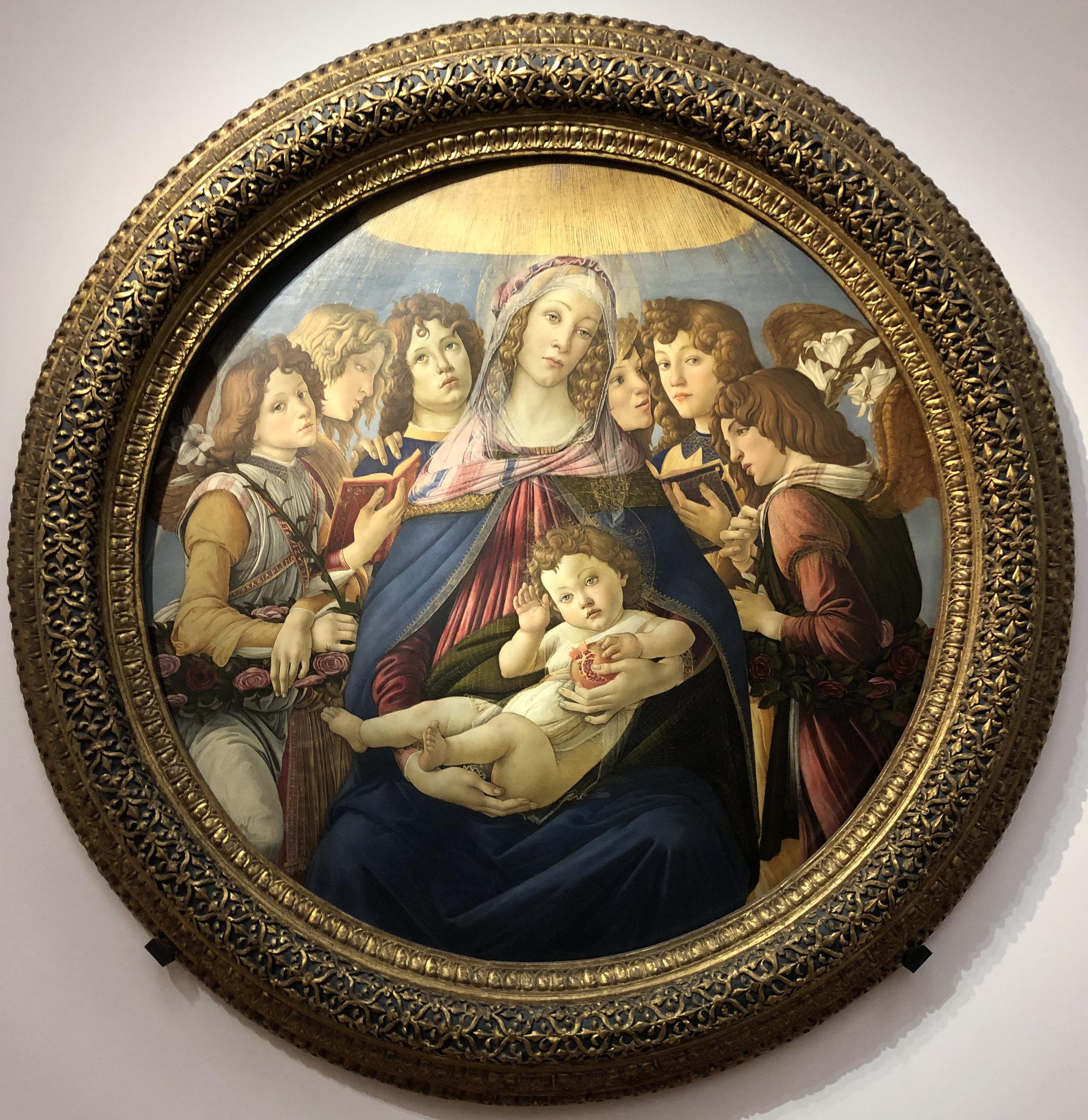 """Рис.5 Сандро Боттичелли """"Мадонна с гранатом"""", приблизительно 1487 г."""