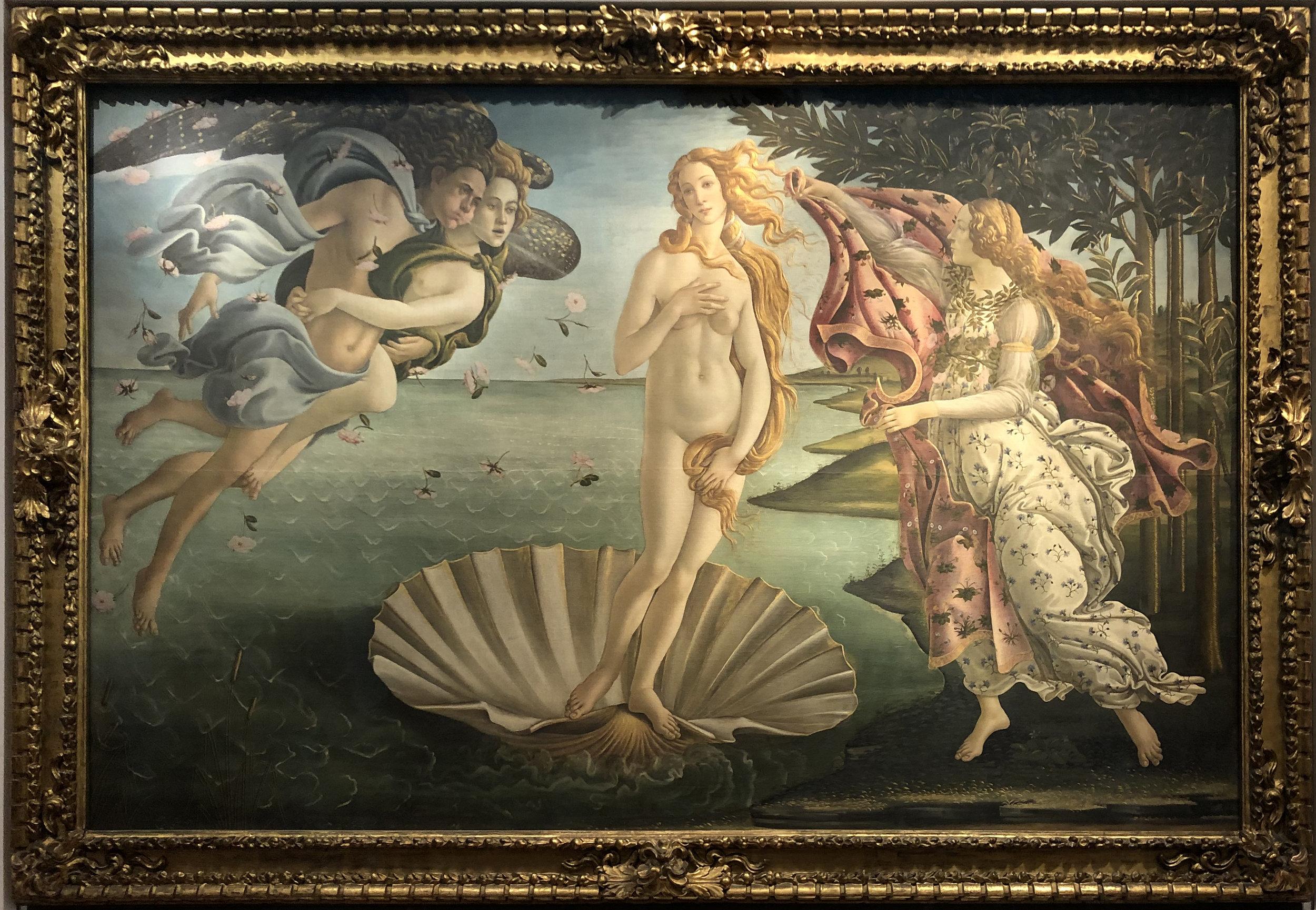 """Рис.6 Сандро Боттичелли """"Рождение Венеры"""", приблизительно 1485 г."""