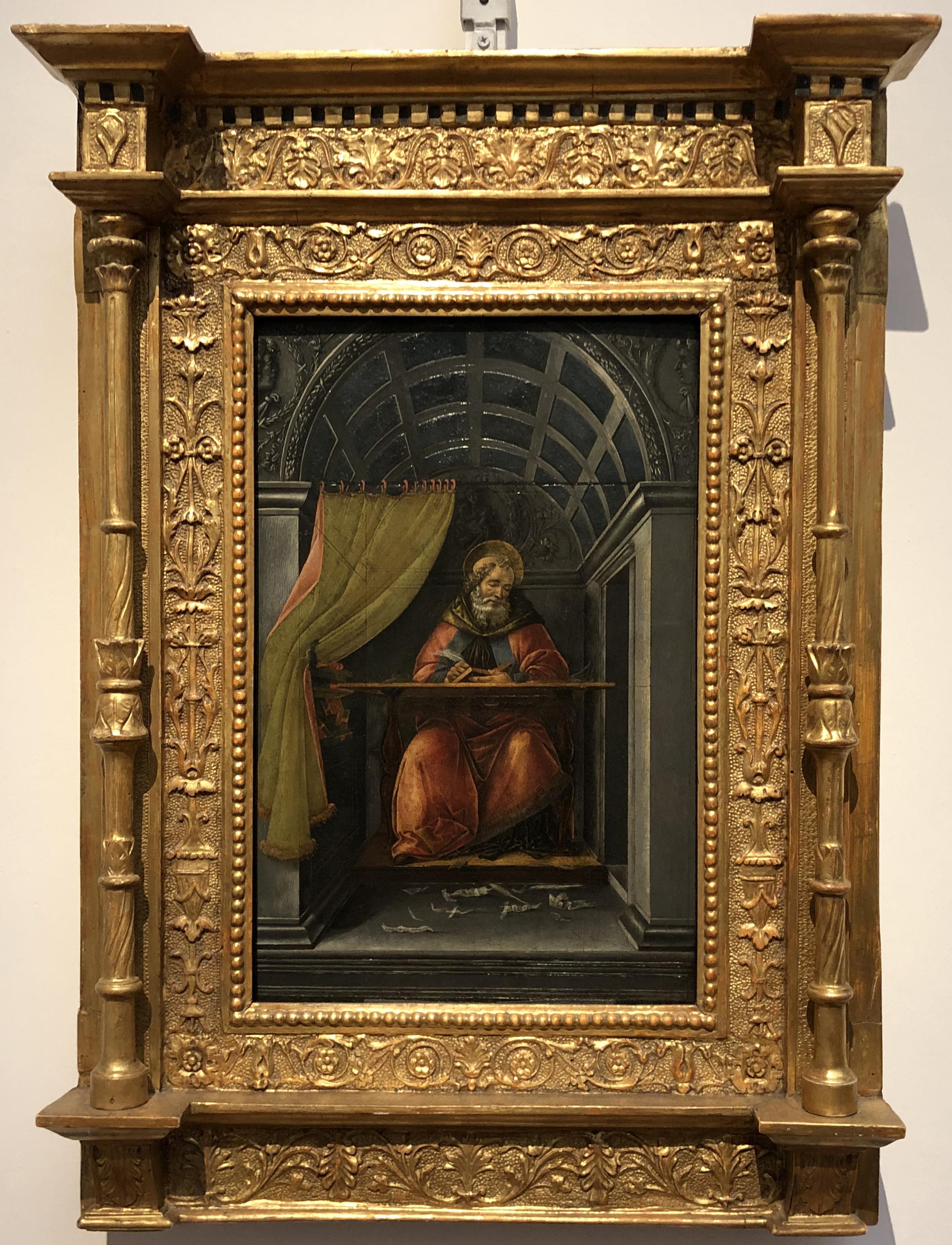 """Рис.9 Сандро Боттичелли """"Святой Августин в своем кабинете"""", приблизительно 1490-95 г."""