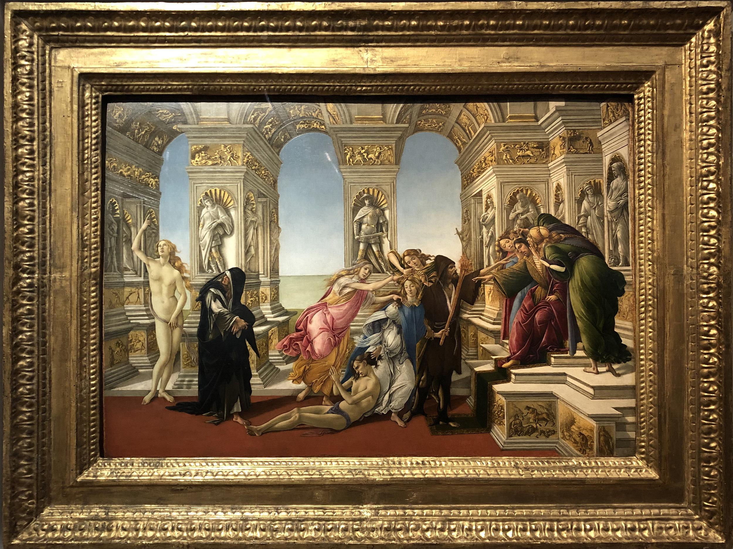 "Рис.10 Сандро Боттичелли ""Клевета Апеллеса"", приблизительно 1495 г."