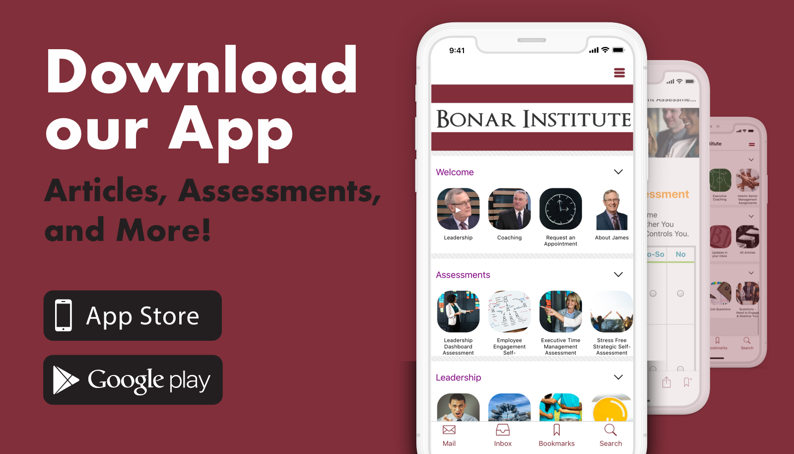 Always be up-to-date! - With evermore articles and expanding features, the Bonar Institute App is a great tool to stay in the know.