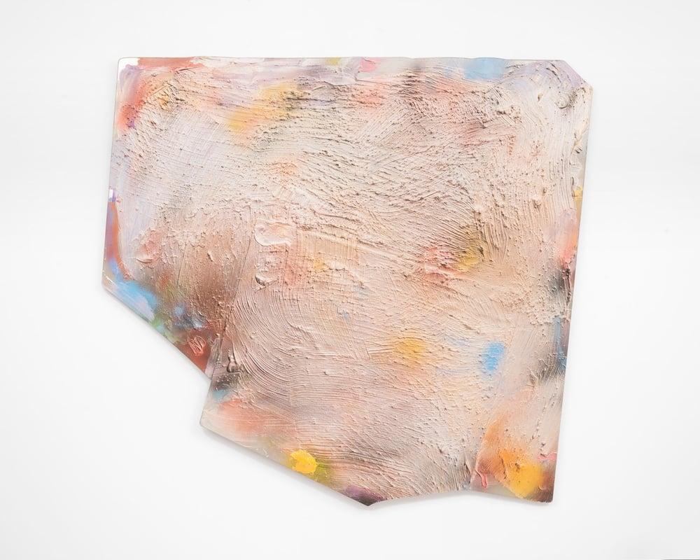 OG Challenge- Two , 1986. Water based acrylic and oil based enamel on Plexiglas. 47 x 49 in; 119.4 x 124.5 cm © Estate of Jules Olitski/Licensed by VAGA, New York, NY