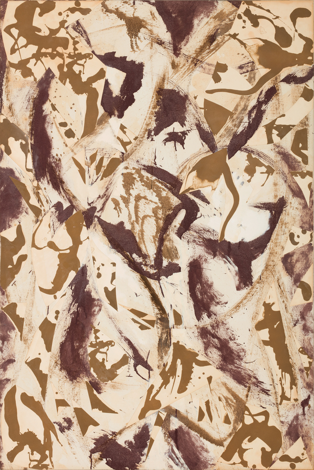 Lee Krasner,  The Farthest Point , 1981, oil on paper collage on canvas, 56 3/4 x 37 1/4 inches144.1 x 94.6 cm  © 2016 The Pollock Krasner Foundation / Artists Rights Society (ARS), New York.
