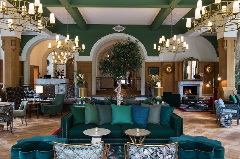 Hotel Walther lobby, courtesy of Hotel Walther and Reto Guntil