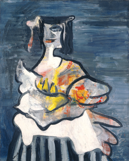 Robert Motherwell,  La Belle Mexicaine (Maria) , 1941, oil on canvas, 29 1/2 x 23 3/4 inches / 74.9 x 60.3 cm. © Dedalus Foundation Inc. Licensed by VAGA, New York, NY