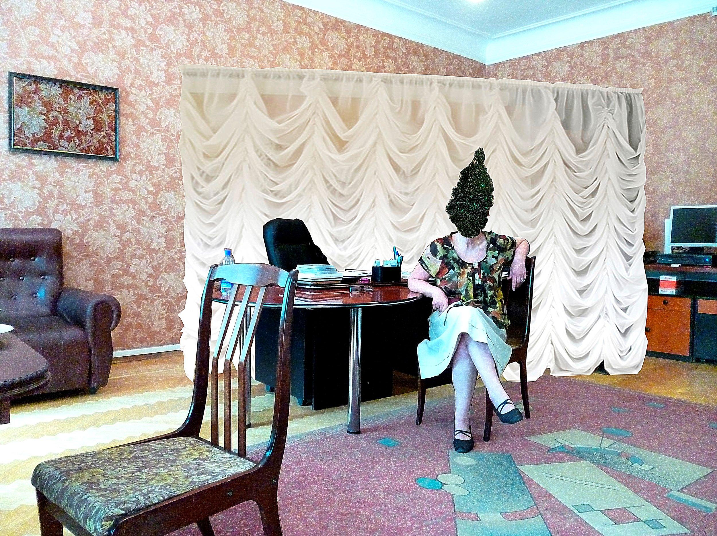Bakhit Bubikanova,  New Year's Postcard , 2015. Courtesy the artist and Focus Kazakhstan