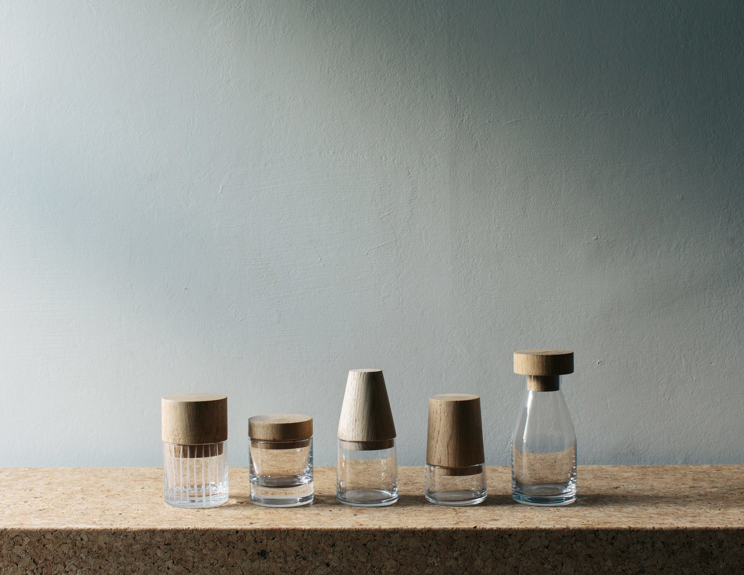 Image of the Nigel Peake collection,  Hand Drawn Glass . Photo by Doreen Kilfeather. Courtesy of J. HILL's Standard.