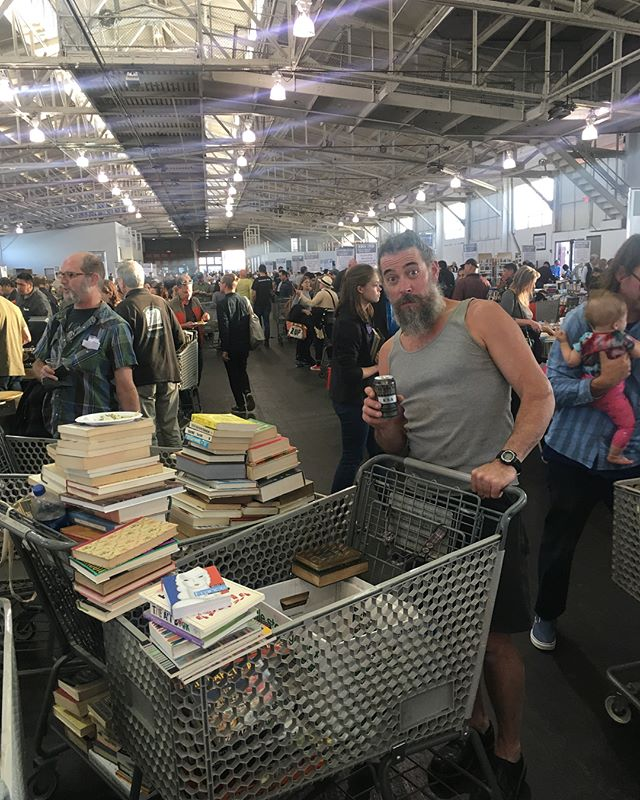Record Breakers!💥Hello San Francisco, we've come to nab up some of your great books @friendssfpl at The Big Book Sale. Our once a year, all out bookbuying extravaganza.📚Thank you San Fran, for being such great readers, and givers ✌🏼🤓#books #bibliophile #sanfrancisco #friends of the #library #bookgeek ... • • • • #art #travel #design #artbooks #curated #collection  #inspiration with #beer  #bookhaul  #classics  #childrensbooks  #journals  #bookstagram  #fortmason  #booklover  #halloween  #wanderlust  #business  #entrepreneur  #hardwork for  #ladyboss & #mr @lopioneerdesign  #bookstore