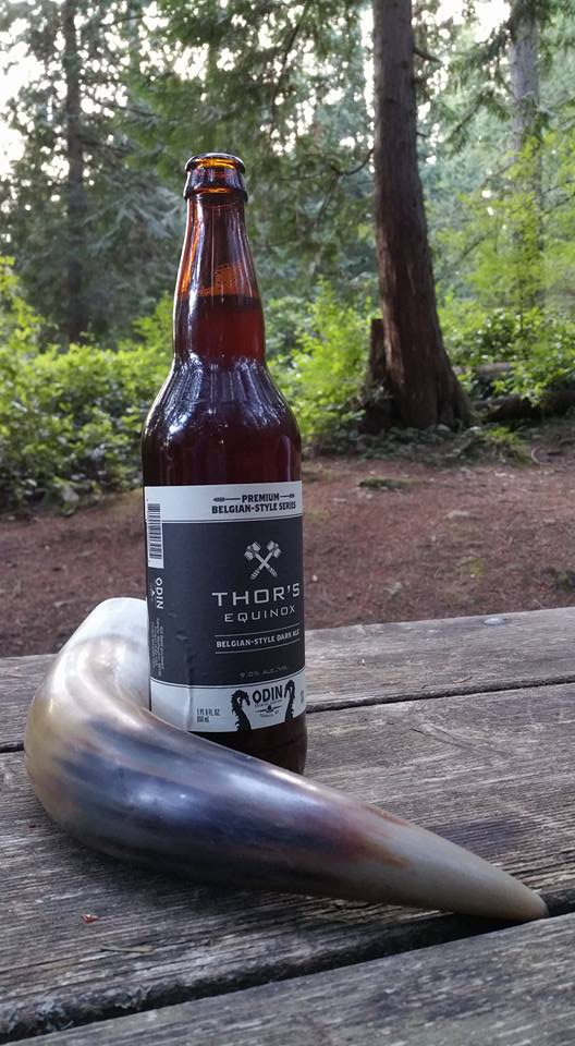 I even managed to find some Viking-themed brew to fill my horn with while camping.