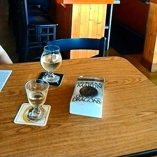 Jenna and I caught up on some reading while sipping mead, beer and cider at the Skep and Skein.