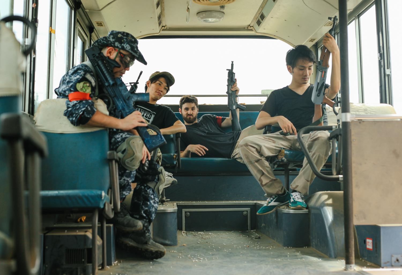 Japanese military boy band?