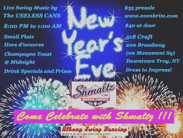 Come swing with us in Troy this New Year's Eve!!!