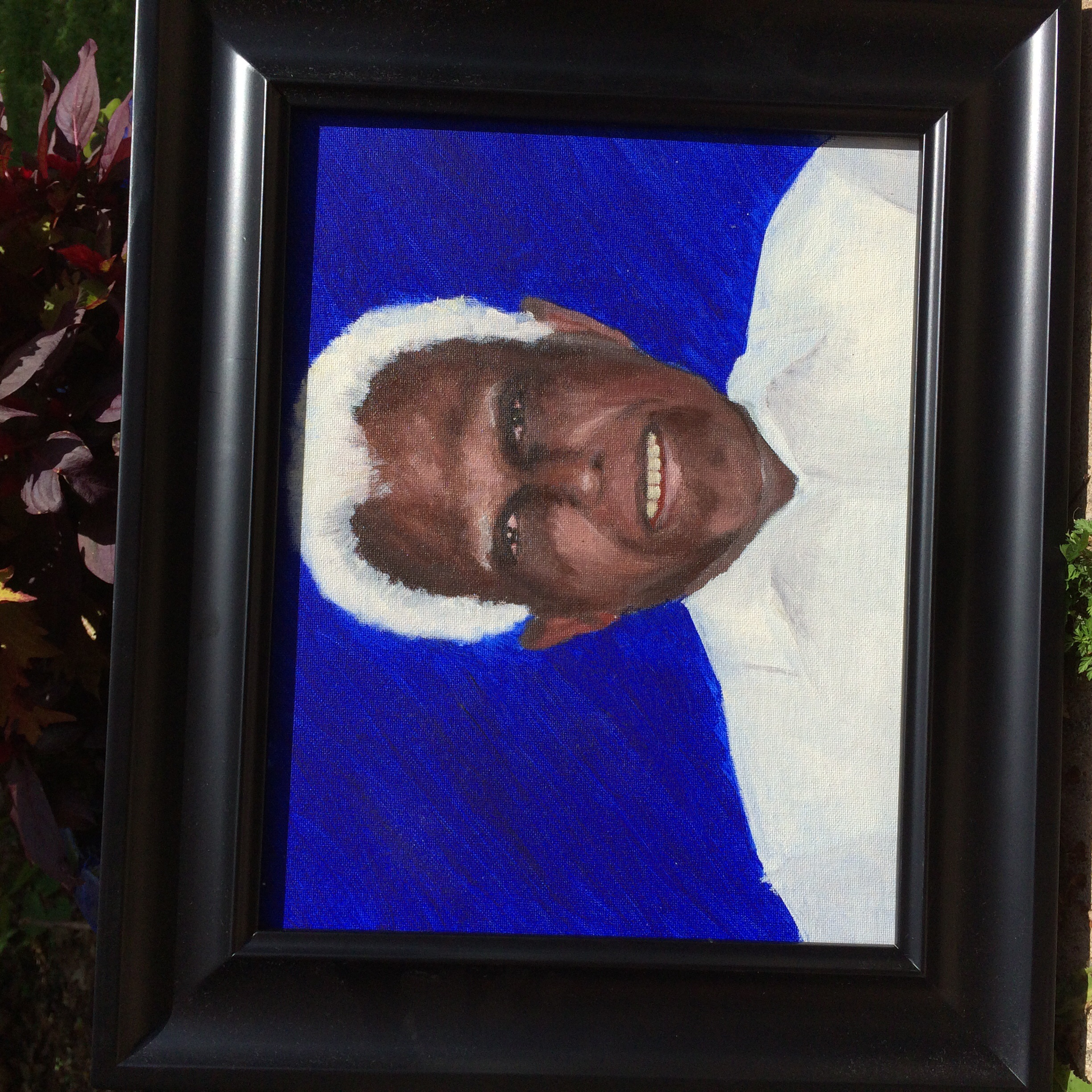 Alkyd portrait of my late grandfather, which I made in 2012