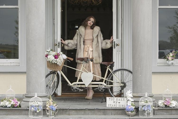 A Tandem Bike should be obligatory at every wedding! - By Vintage Affair Vintage Wedding Decor