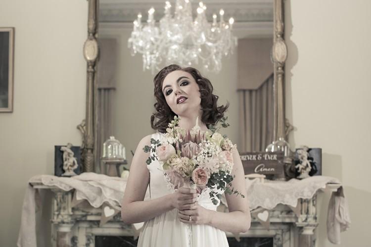 Loose romantic wedding bridal bouquet.